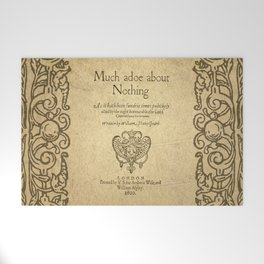 Shakespeare. Much adoe about nothing, 1600 Welcome Mat