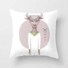 taurus astro portrait Throw Pillow