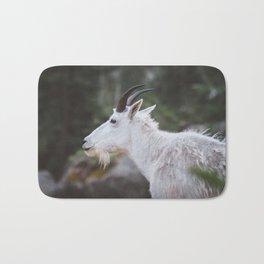 Mountain Goat in Black Hills National Forest Bath Mat