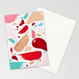 Make up Palette Pattern Stationery Cards