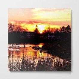 Arcade Pond at Sunset Metal Print