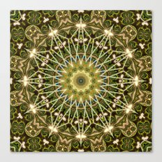 Geometric Forest Mandala Canvas Print