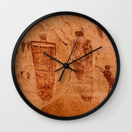 Horseshoe Canyon Great Gallery Group 2 Pictographs Wall Clock