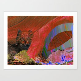 landscape collage #25 Art Print