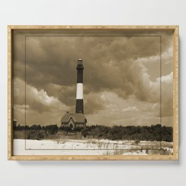 Fire Island Light In Sepia Serving Tray