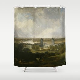 """J.M.W. Turner """"London from Greenwich Park"""" Shower Curtain"""