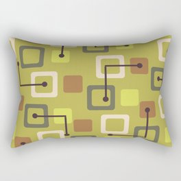 Midcentury 1950s Tiles & Squares Chartreuse Rectangular Pillow