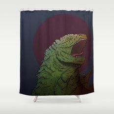 Godzilla, God of Tokyo Shower Curtain