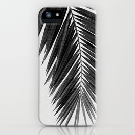 Palm Leaf Black & White I iPhone Case