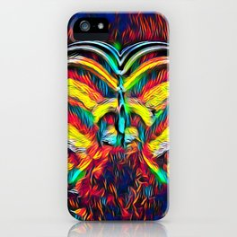 1349s-MAK Abstract Pop Color Erotica Explicit Psychedelic Yoni Buns iPhone Case