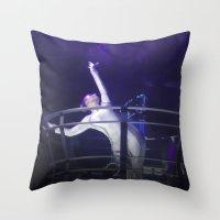 techno Throw Pillows featuring Techno Diva by tscreative