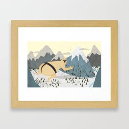 Oyama Fights The Mountain Framed Art Print
