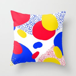 Primary Dots Throw Pillow