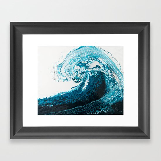Ocean Wave Acrylic Pour by spydphotography