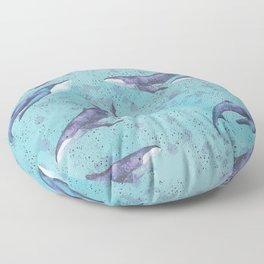 Big space whales pattern Floor Pillow