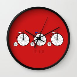 Lets Ride Wall Clock