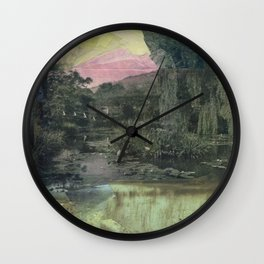 Pond Color Study no.2 Wall Clock