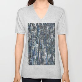 Abstract blue 2 Unisex V-Neck