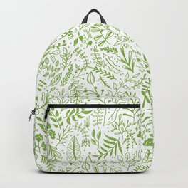 Greenery Garden Seamless Pattern Backpack
