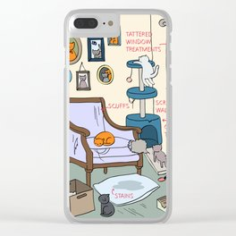 Cat Lady's Home Clear iPhone Case