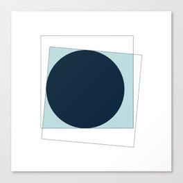 #368 New moon – Geometry Daily Canvas Print