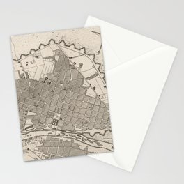 Vintage Map of Lima Peru (1764) Stationery Cards