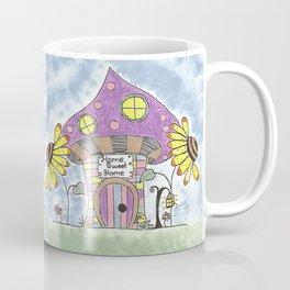 Whimsical Mushroom House Coffee Mug
