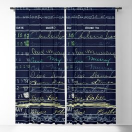 Library Card 780 The Wonderful World of Music Negative Blackout Curtain