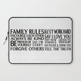Family Rules 2 Laptop Sleeve