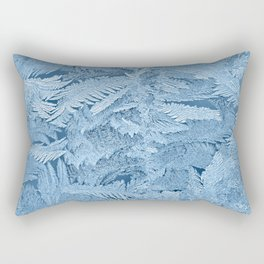 Frost pattern on glass in winter Rectangular Pillow