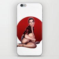 calendar iPhone & iPod Skins featuring CALENDAR GIRL by Kiko Alcazar