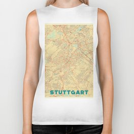 Stuttgart Map Retro Biker Tank
