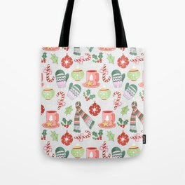 Cozy Christmas Pattern Tote Bag