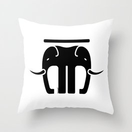 CAPITAL LETTER Throw Pillow