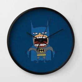 Screaming Batdude Wall Clock
