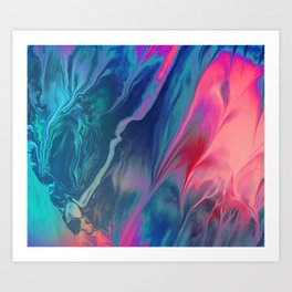 Color scattering Art Print