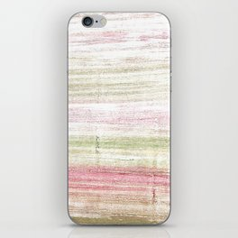 Dark vanilla abstract watercolor iPhone Skin