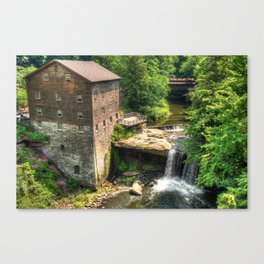 Lanterman's Mill and Covered Bridge - Youngstown Ohio Canvas Print