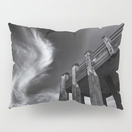 Wooden Jetty and the London Summer Sky Pillow Sham