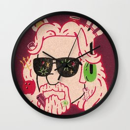 The Dude Wall Clock