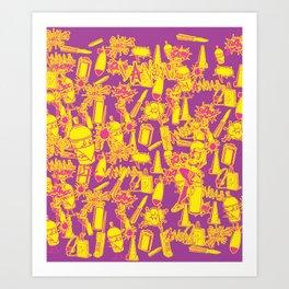 BRIGHT VANDAL CLASSICS Art Print