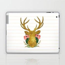 Floral Gold Deer Laptop & iPad Skin