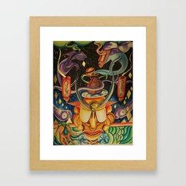 The Mask of Rolling Love Framed Art Print