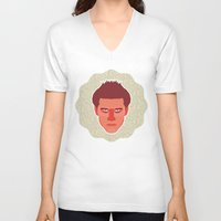 buffy the vampire slayer V-neck T-shirts featuring Angel - Buffy the Vampire Slayer by Kuki
