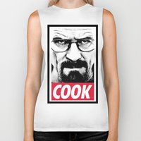 cook Biker Tanks featuring Cook by Shine Out