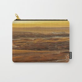 Glowing sunset landscape of Petrified Forest National Park Carry-All Pouch