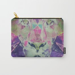 Neon Lion Art Print Carry-All Pouch