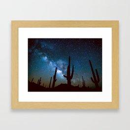 Milky Way Cacti Framed Art Print
