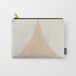Curvature Minimalism II - Warm Neutral Carry-All Pouch