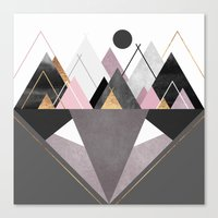 nordic Canvas Prints featuring Nordic Wilderness by Elisabeth Fredriksson